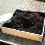 bak vullen met grond